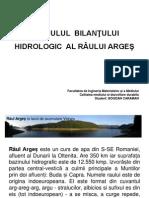 Bilantul de apa al raului Arges