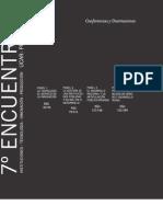 Conferencias y disertaciones - 7° Encuentro