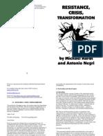 resistance crisis transformation