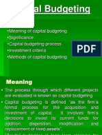 Capital Budgeting i
