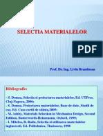 selectia materialelor