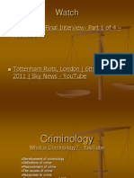 criminology an intro