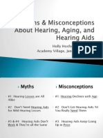 Myths and Misconceptions About Hearing, Aging and Hearing Aids by Holly Hosford-Dunn