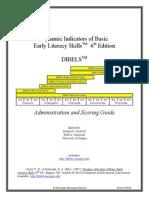 dibels-admin and scoring 6th ed1