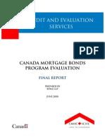 canada mortgage bond program evaluation