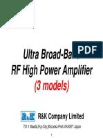 Ultra Broadband RF High Power Amplifier