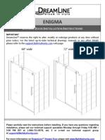 Dreamline Enigma_door_manual.owners Manual Instructions Westside Wholesale Call 1 877 998 9378