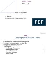 Tactics phase in communication strategy