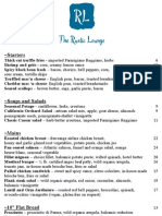 The Rustic Lounge at Cedar Glen Lodge - 2013 Menu