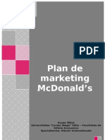 Plan de Marketing McDonald's