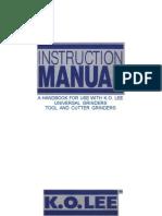KOLee tool grinder owners manual