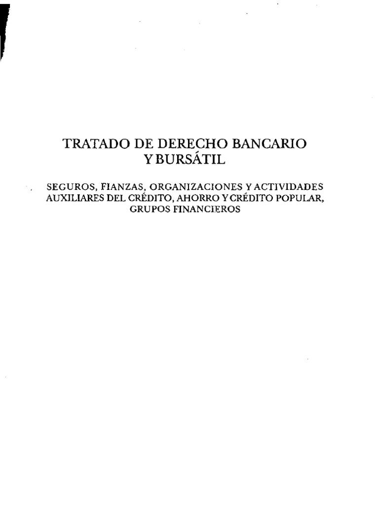 TRATADO DE DERECHO BANCARIO Y BURSATIL - TOMO II - JESÚS DE LA ...