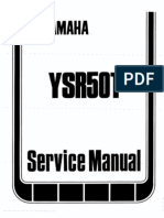 1987 YAMAHA YSR 50T Service Manual