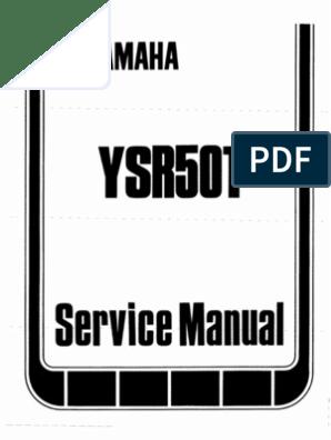 1987 YAMAHA YSR 50T Service Manual | Suspension (Vehicle ... on