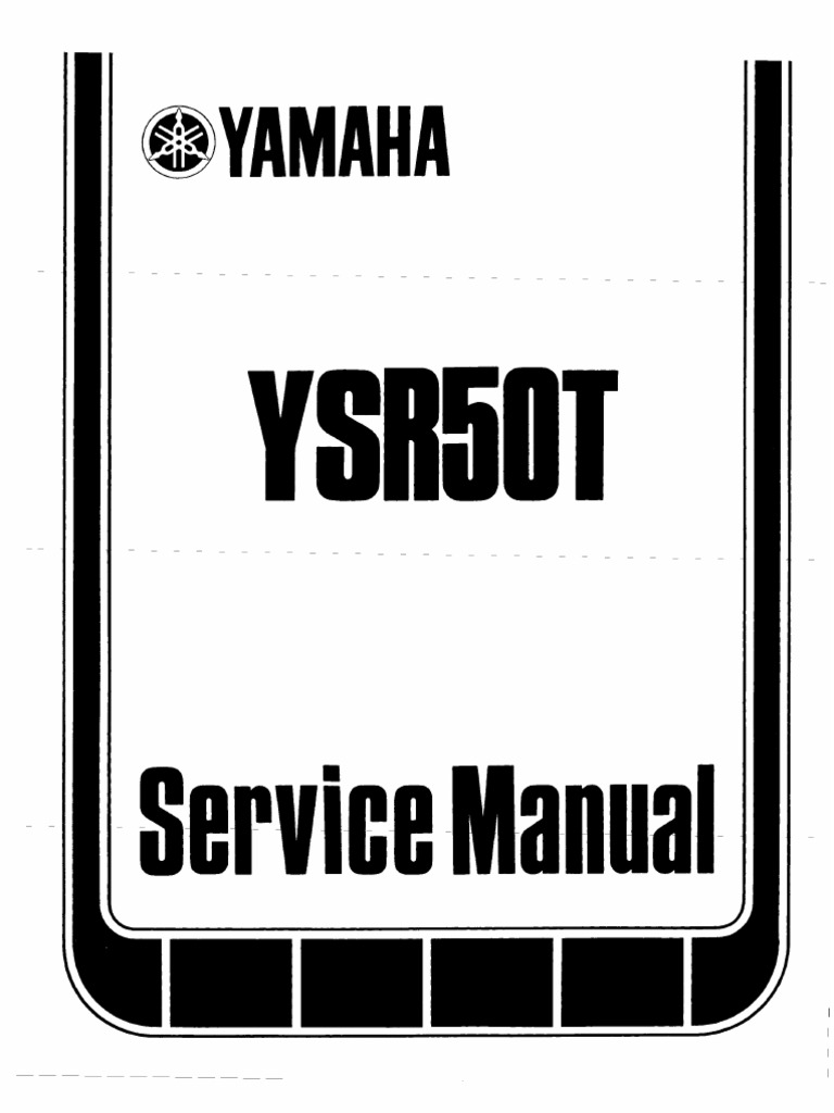 1987 yamaha ysr 50t service manual brake