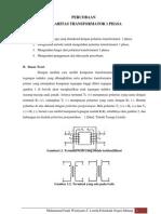 Cara Menentukan Polaritas Transformator 1 Fasa