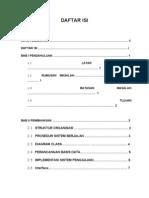 DAFTAR ISI Makalah Skripsi Penggajian