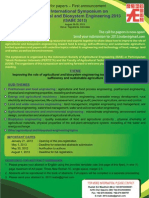 The International Symposium on Agricultural and Biosystem Engineering 2013