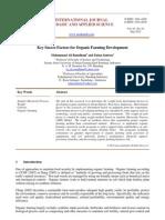 Key Succes Factors for Organic Farming Development