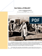 Who is Sai Baba of Shirdi