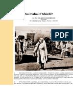 Who is Sai Baba of Shirdi