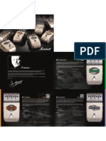 Marshall FX Pedal leaflet
