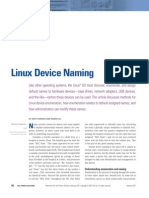 Linux Device Naming