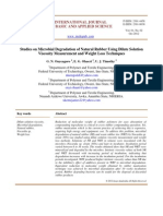 Studies on Microbial Degradation of Natural Rubber Using Dilute Solution