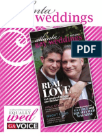 2013 Atlanta Gay Weddings media kit