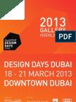 Design Days Dubai 2013 Gallery Highlights