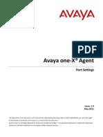 Avaya One x Agents Port Setting