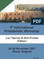 5th International Probabilistic Workshop