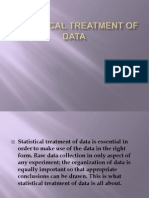 Statistical Treatment of Data