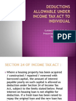 Deduction under Income Tax for individuals