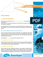 January 2013 Newsletter Français
