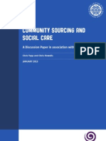 Community Sourcing and Social Care