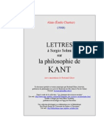 Alain [Emile Chartier] -  Lettres à Sergio Solmi [1946]