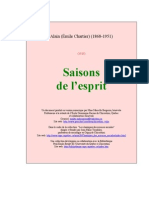 Alain [Emile Chartier] - Saisons de l'Esprit [1935]