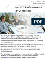 Avoid Common Pitfalls of Retirement Plan Compliance