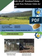 pengaruh suhu ekstraksi dan pH perendaman terhadap yield yang dihasilkan pada pembuatan gelatin dari limbah kulit sapi split