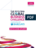 the 2013 CIMA GLOBAL BUSINESS CHALLENGE