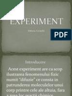 Experiment Difuzie