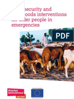 Food security and livelihoods interventions for older people in emergencies
