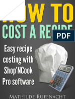 How to cost recipes - easy recipe costing with Shop'NCook Pro software