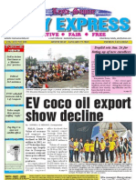 EV coco oil export show decline