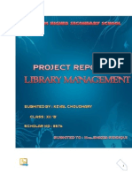 c++ project on library management by kc