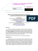 IMPACT OF BUSINESS INTELLIGENCE TOOLS IN EXECUTIVE INFORMATION SYSTEMS
