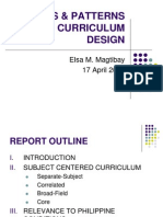 Report on Approaches to Curriculum Design