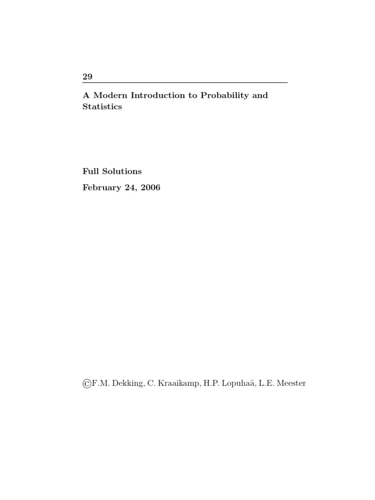 Probability And Statistics Book Solutions P Value