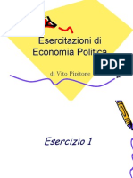 Esercizi Economia Politica